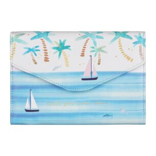 Disaster Designs By The Sea Palm Tree Travel Wallet