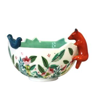 Secret Garden Fox Bowl with Gift Box