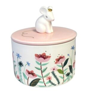 Disaster Designs Secret Garden Mouse Jar with Gift Box