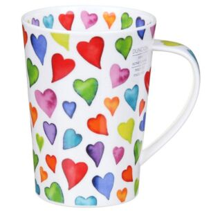Dunoon Warm Hearts Argyll Shape Mug