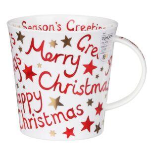 Christmas Greetings Cairngorm Shape Mug