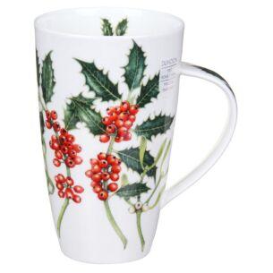 Holly and Mistletoe Henley Shape Mug