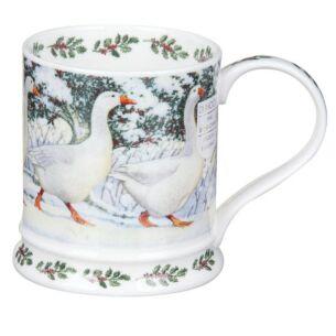 Festive Birds Geese Iona Shape Mug