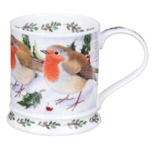 Festive Birds Robin Iona Shape Mg