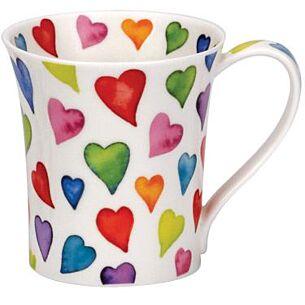Warm Hearts Jura shape Mug