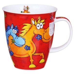 Barmy Farmy Horse Nevis Shape Mug