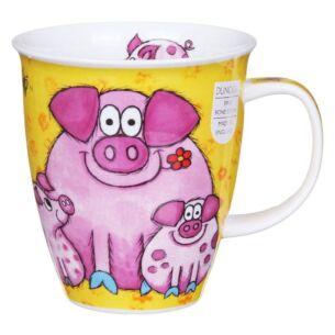 Barmy Farmy Pig Nevis Shape Mug