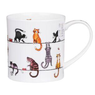 Live Wires Cat Orkney Shape Mug