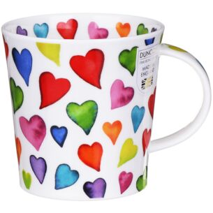 Warm Hearts Cairngorm shape Mug