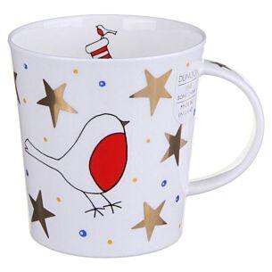 White Christmas Robin Lomond shape Mug