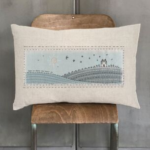 East of India 'Home Is Where The Heart' Is Embroidered Cushion