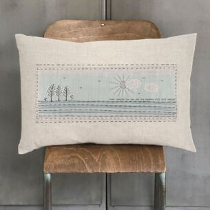 East of India 'Look Towards The Sun' Embroidered Cushion
