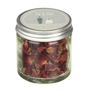 East of India Mr & Mrs Little Jar Of Petal Confetti