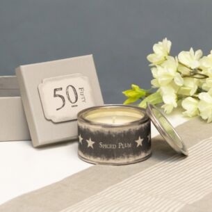 East of India '50' Boxed Candle