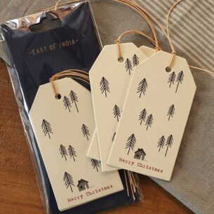 Pack of 6 Labels – Fir Trees and House