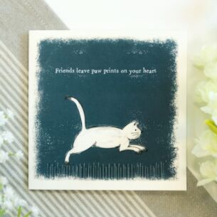 'Paw Prints on Your Heart' Card