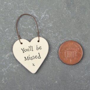 'You'll Be Missed' 3cm Little Heart Sign