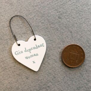 'Gin Dependent Woman' Little Heart Sign