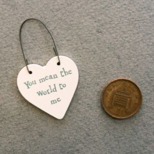 'You Mean the World to Me' Little Heart Sign