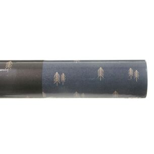 East of India Navy Woodland Roll of Kraft Paper