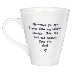 East of India You Are Braver Porcelain Mug