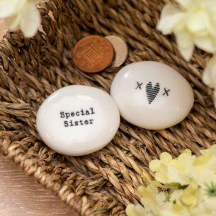 'Special Sister' Sentimental Pebble