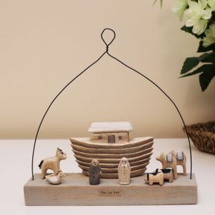 East of India 'Two By Two' Noah's Ark Wooden Scene