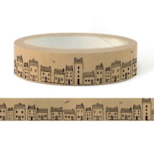 Christmas Houses Wide Adhesive Tape – 50m