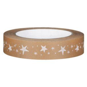 White Stars Wide Adhesive Tape – 50m
