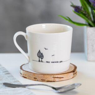 May Contain Gin Wobbly Porcelain Boxed Mug