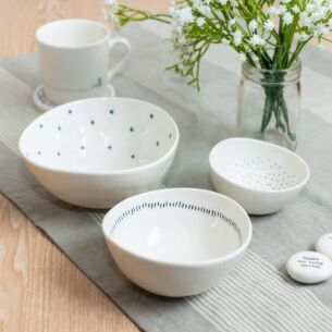 East of India 'Stars, Dashes & Dots' Set of 3 Boxed Bowls