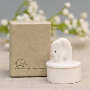 Elephant Little Porcelain Pot