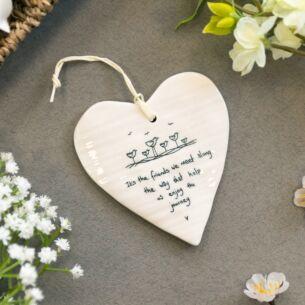 'Friends We Meet' Wobbly Hanging Heart
