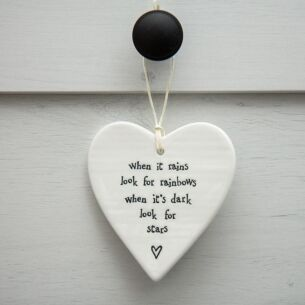 Porcelain Hanging Heart When It Rains