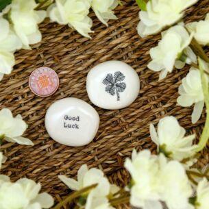 East of India 'Good Luck' Sentimental Pebble