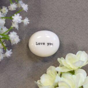 East of India 'Love You' Sentimental Pebble