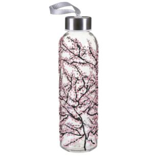 Pink Blossom Glass Water Bottle