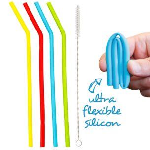 Echo Three Reusable Set of 4 Flexi Straws