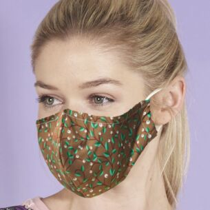 Brown Mistletoe Berry Trail Recycled Face Cover