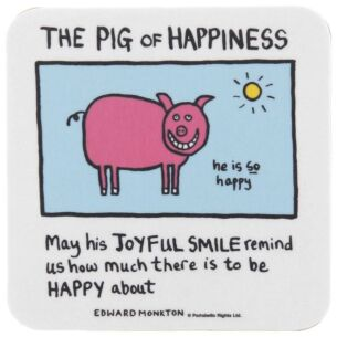 The Pig of Happiness Coaster