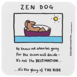 Edward Monkton Zen Dog Coaster