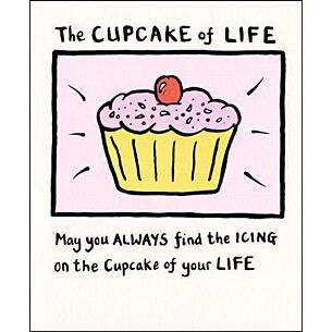 Edward Monkton The Cupcake Of Life Card