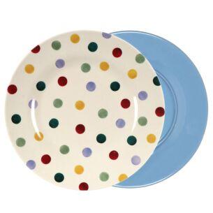 Polka Dot Two Tone Bamboo Plate