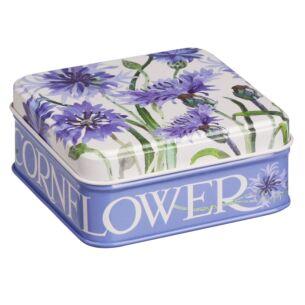 Flowers Cornflower Small Square Pocket Tin