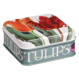 Flowers Tulips Small Square Pocket Tin