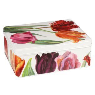 Flowers Deep Rectangular Tin