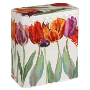 Flowers Large Rectangular Storage Tin