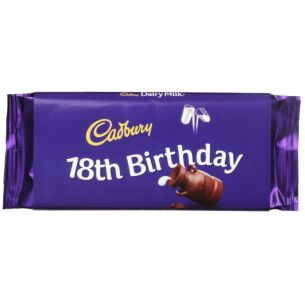 '18th Birthday' 110g Dairy Milk Chocolate Bar