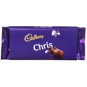 'Chris' 110g Dairy Milk Chocolate Bar