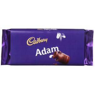 'Adam' 110g Dairy Milk Chocolate Bar